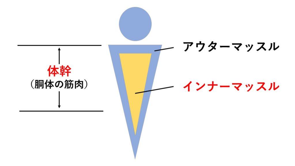 インナーマッスルの位置に関する図