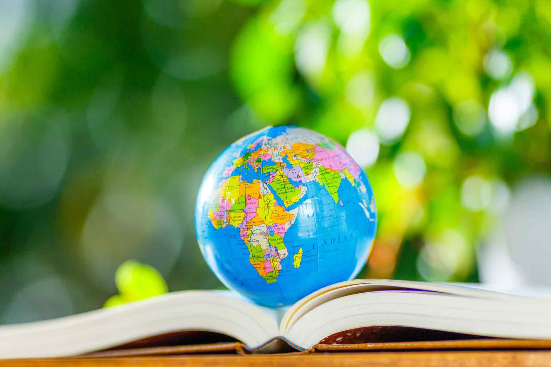 本に乗っている地球