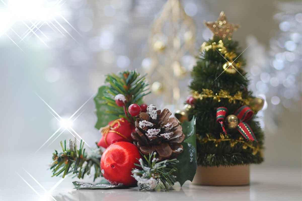 クリスマスツリーと松ぼっくり