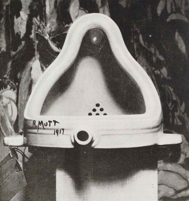 マルセル・デュシャンの「泉」のオブジェ