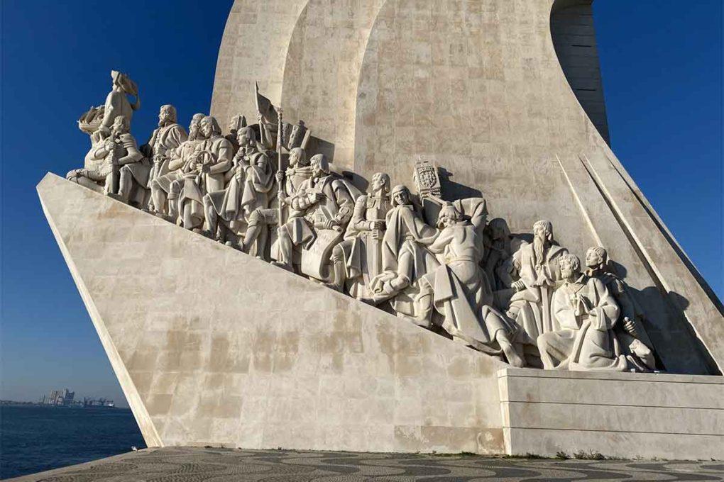 ポルトガルの大航海時代を記念した「発見記念碑」のモニュメント