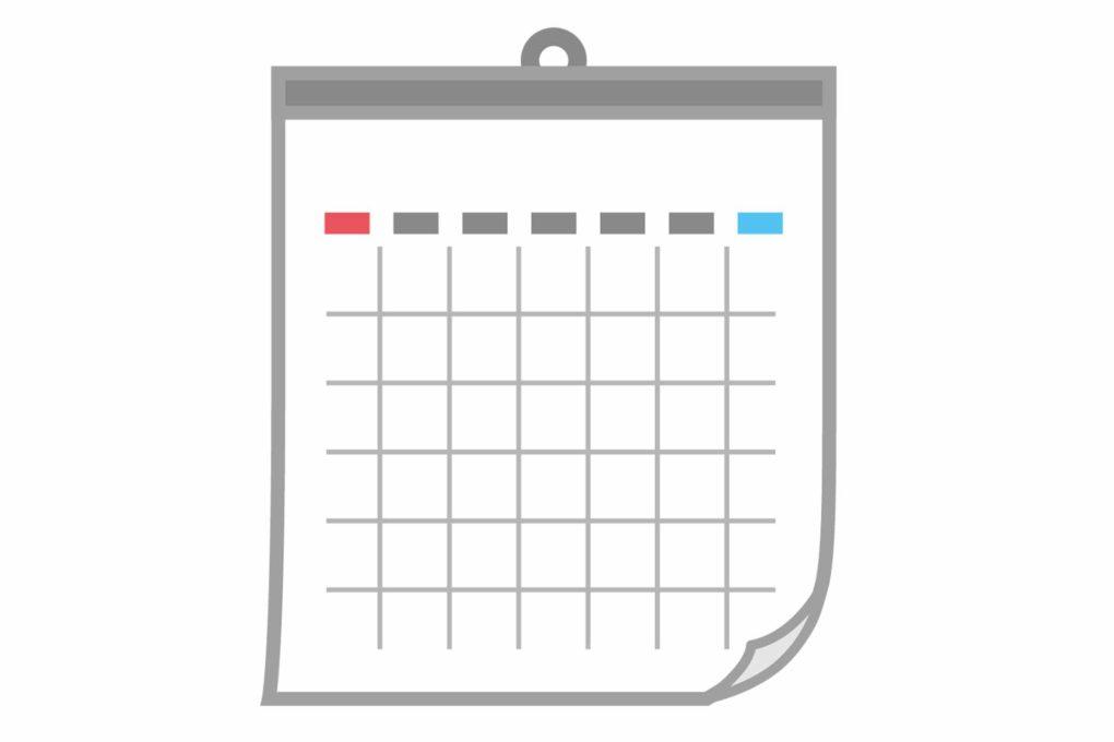 カレンダーのイラスト