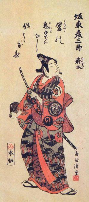 『坂東彦三郎 薪水』鳥居清重
