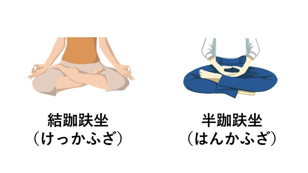 座禅の足の組み方