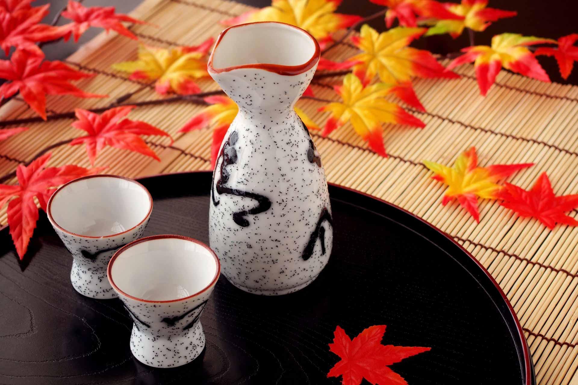 もみじと日本酒