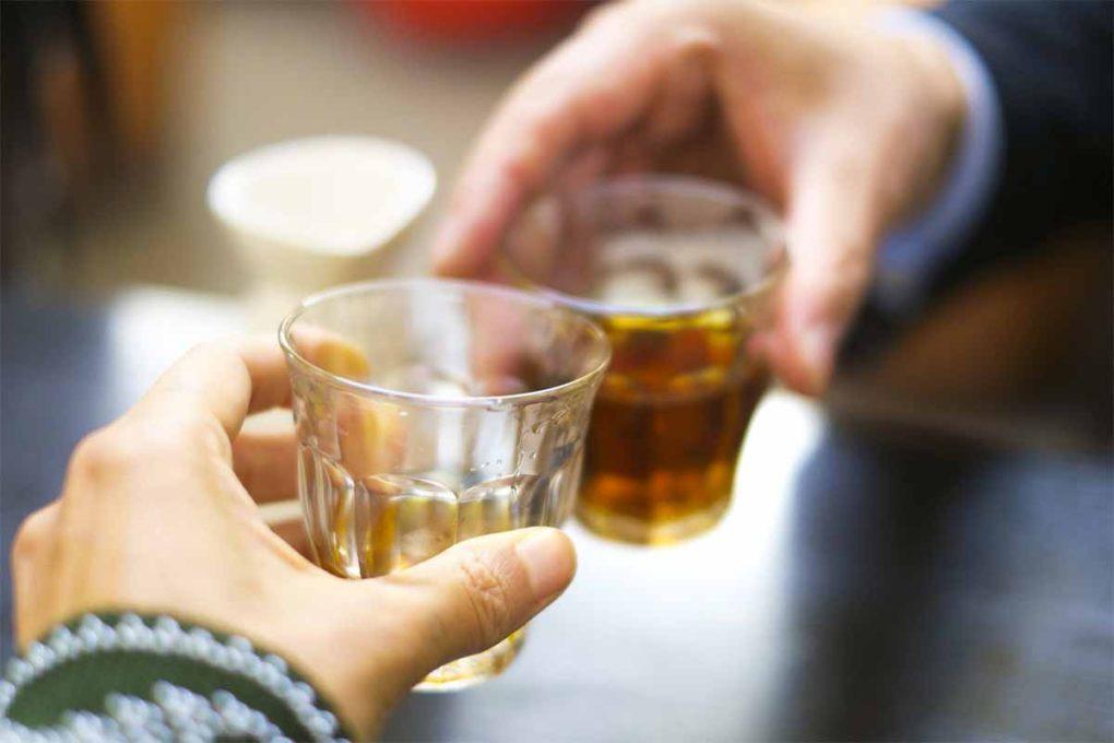 紹興酒で乾杯