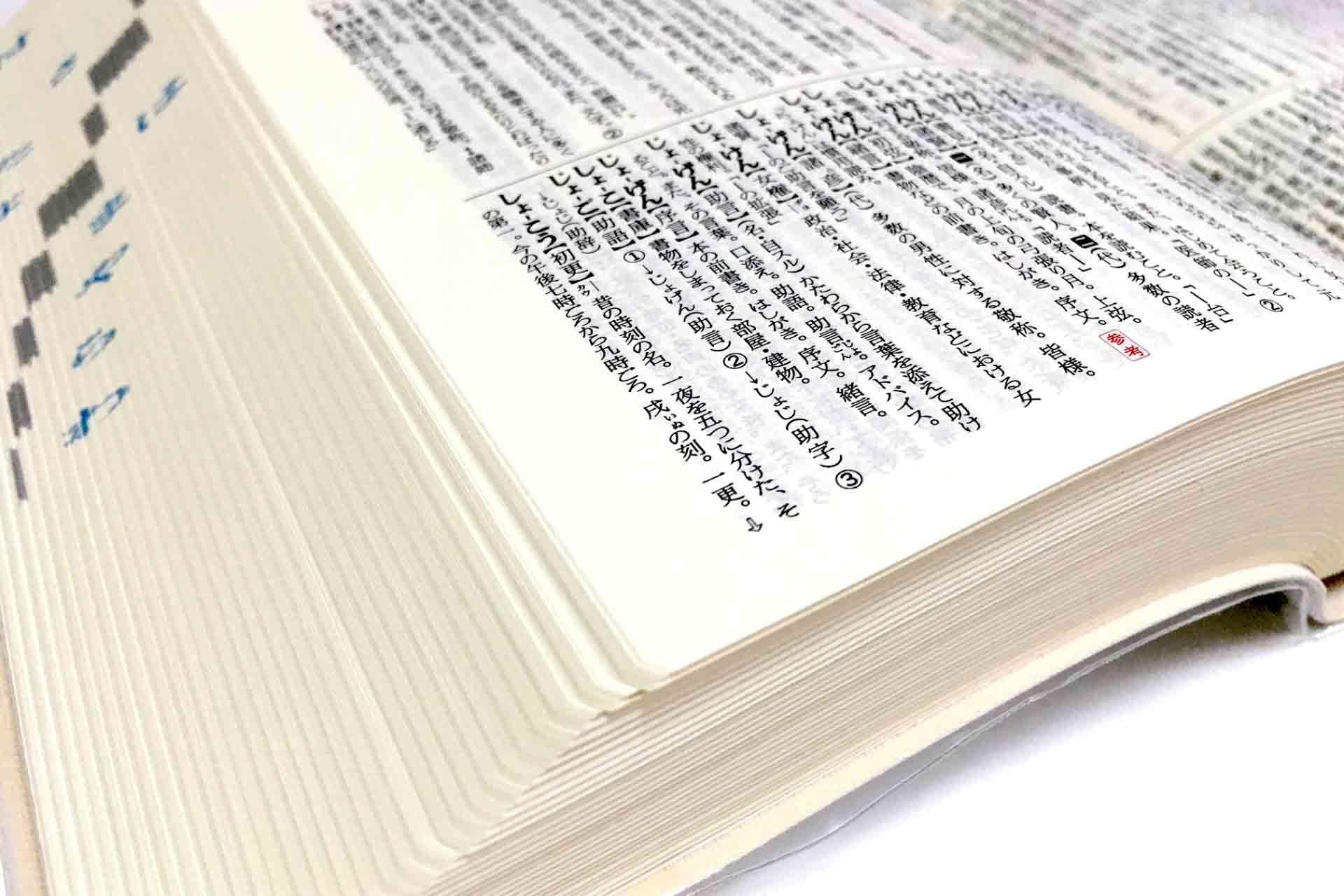 辞書の1ページ