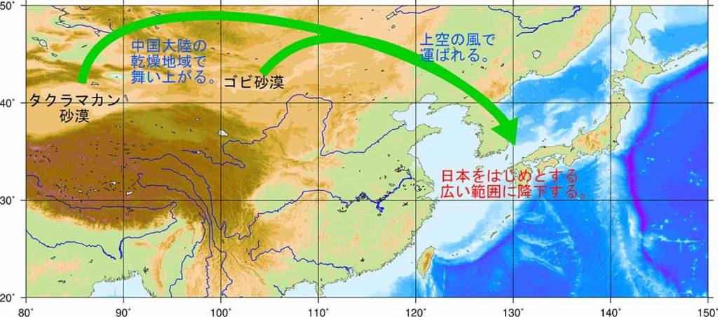 黄砂解説図