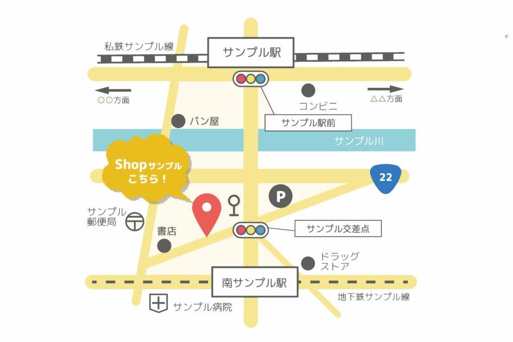 サンプル地図のイラスト
