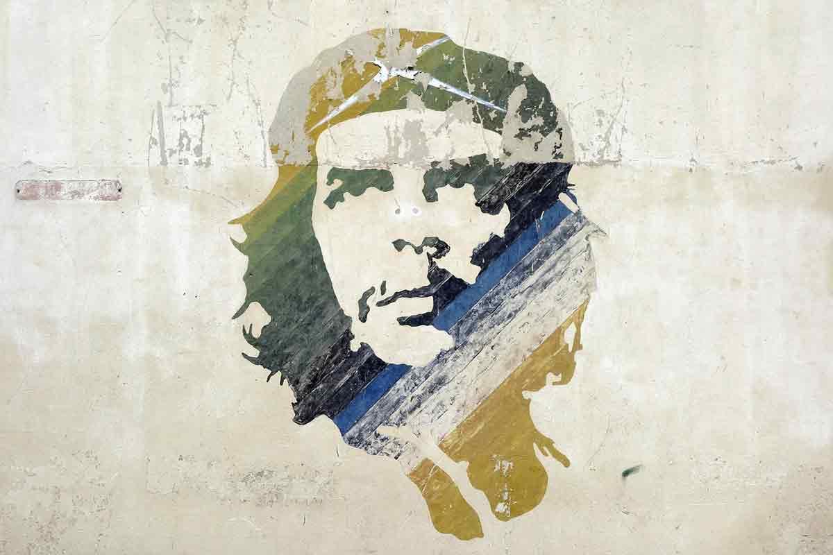 革命家チェ・ゲバラのグラフィティ