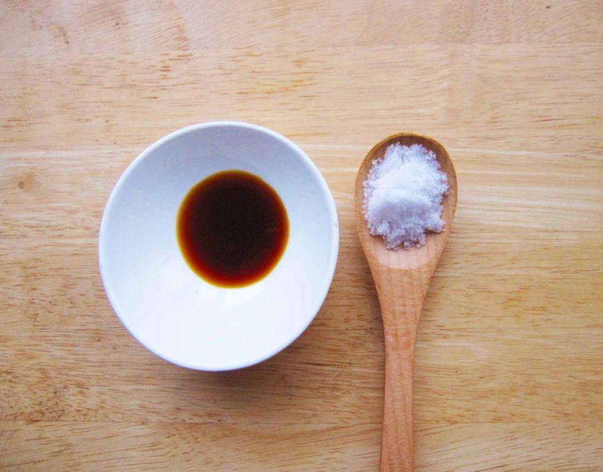醤油と食塩