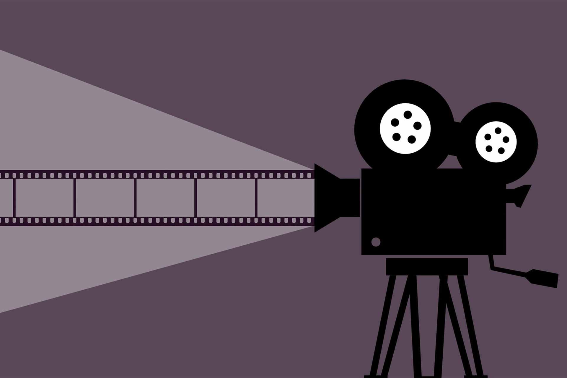 映写機のイラスト