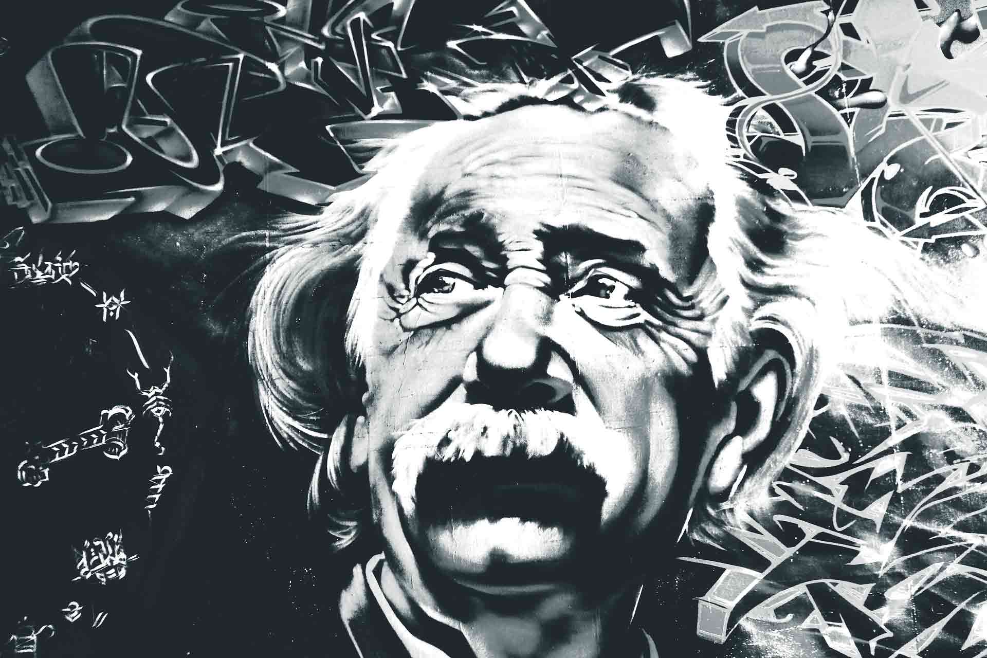 天才アインシュタインのイラスト