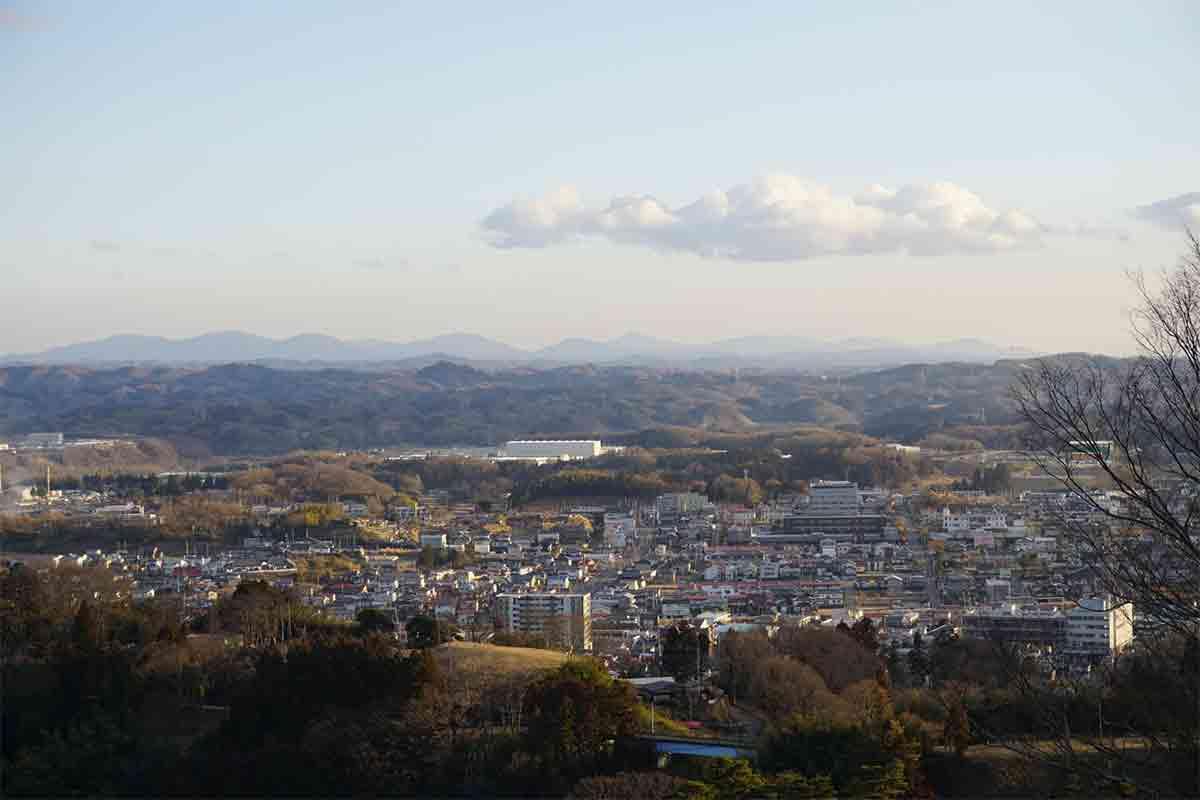 二本松城からの風景
