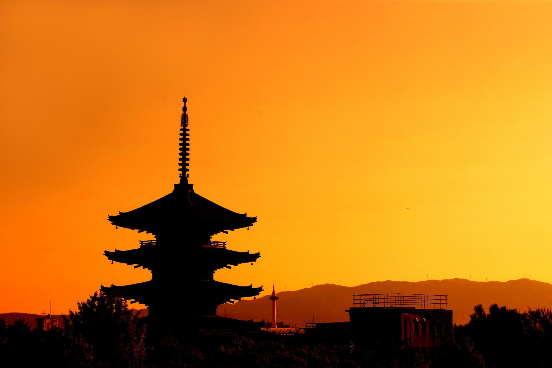 夕暮れの京都